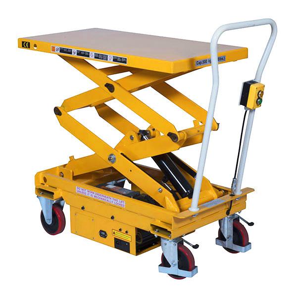 Table elevatrice electrique double ciseaux 300kg plateau for Table elevatrice a ciseaux