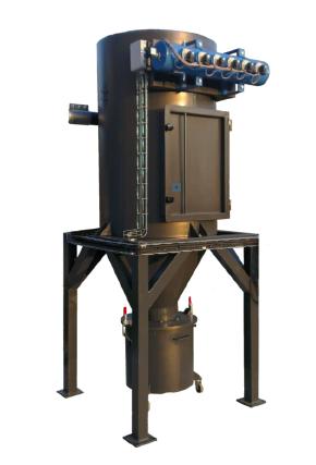 Cyclo-filtre a cartouches verticales