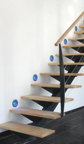 escalier droit a limon central thermolaque marches en hetre. Black Bedroom Furniture Sets. Home Design Ideas