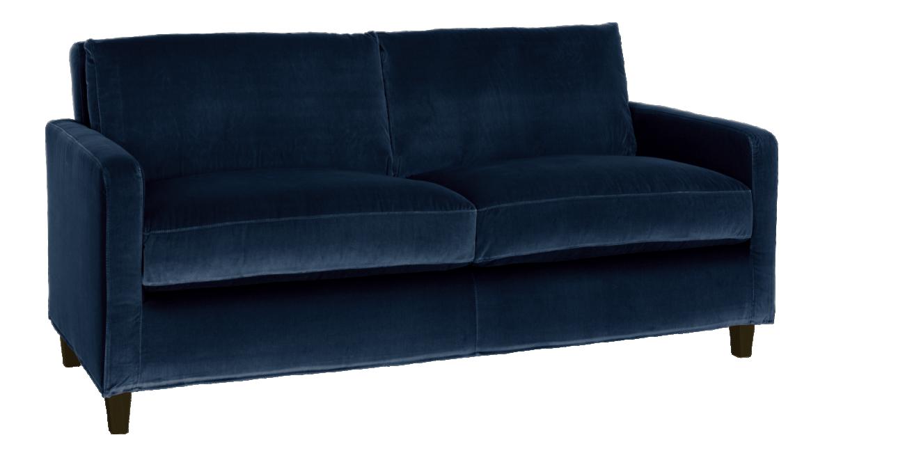 chester canape 2 places en velours. Black Bedroom Furniture Sets. Home Design Ideas