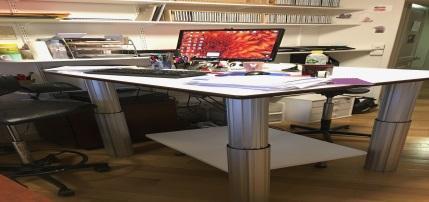 Table elevatrice poste de travail reglable en hauteur
