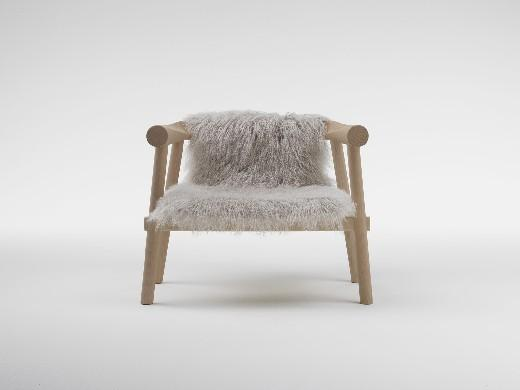 fauteuil log en fourrure no ref ta31 natur. Black Bedroom Furniture Sets. Home Design Ideas