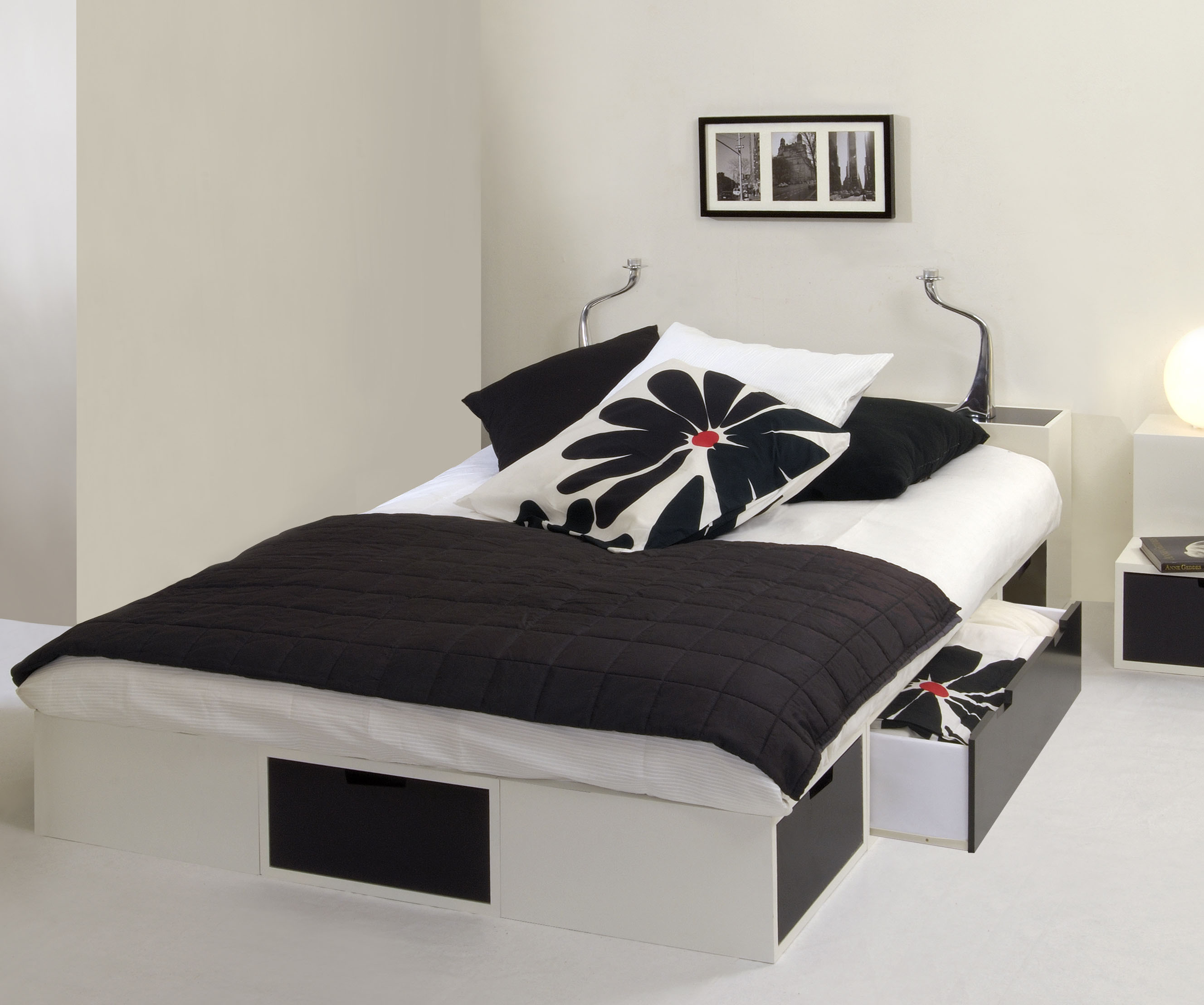 lit podium futon. Black Bedroom Furniture Sets. Home Design Ideas