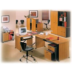 bureau compact 90 avec retour gauche et pieds panneaux gautier office gamme jazz. Black Bedroom Furniture Sets. Home Design Ideas
