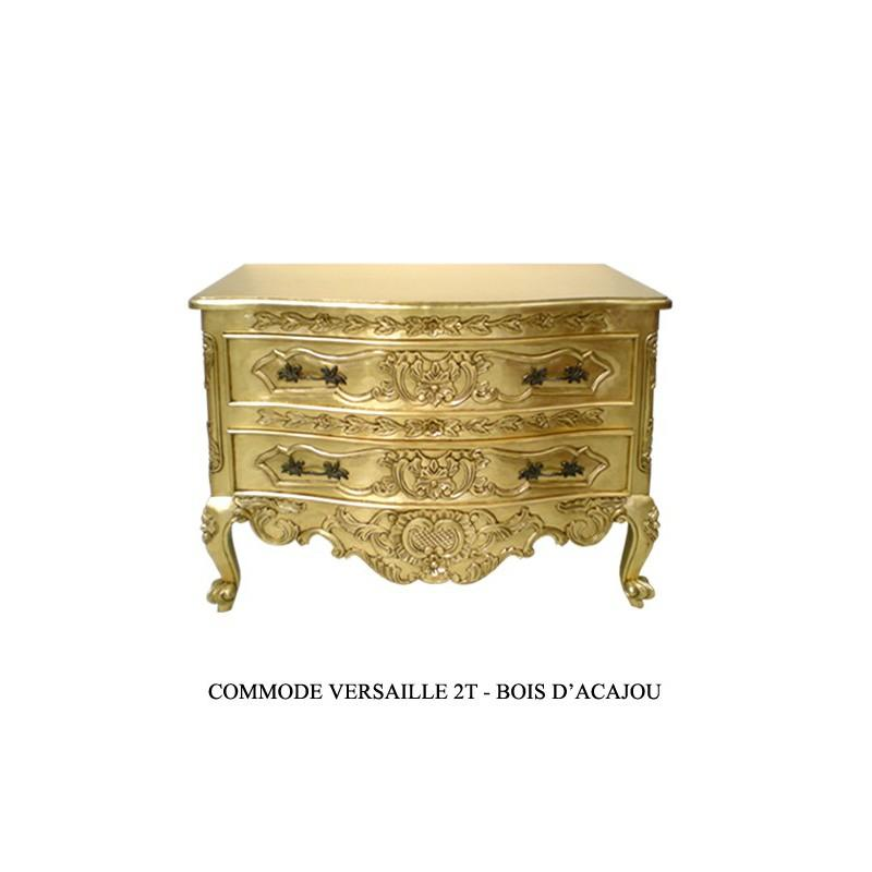 commode baroque doree en bois versailles. Black Bedroom Furniture Sets. Home Design Ideas