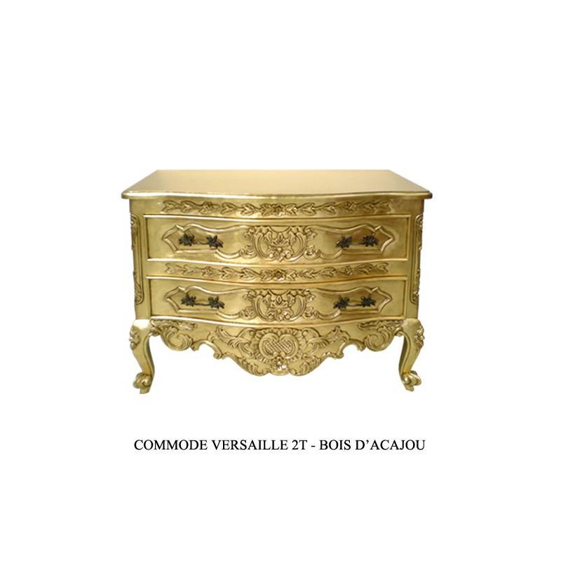 commode baroque doree en bois versailles. Black Bedroom Furniture Sets. Home Design Ideas