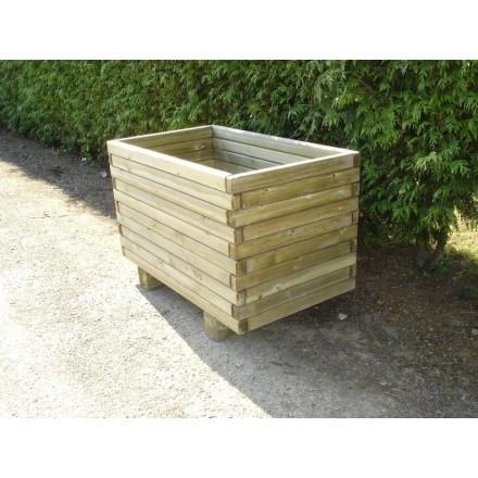 jardiniere rectangulaire en bois. Black Bedroom Furniture Sets. Home Design Ideas