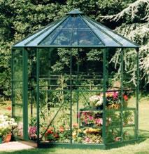 Serre de jardin hexagonale hera 4500 for Serre de jardin ancienne