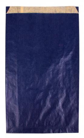 102017 - CARTON DE 250 POCHETTES KRAFT À SOUFFLET 24X6,5X41 CM, COLORIS BLEU