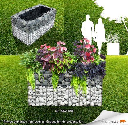 jardiniere gabion 1m x 0 50m x 0 50m. Black Bedroom Furniture Sets. Home Design Ideas