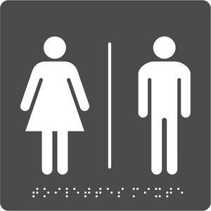 Pav plaq braille toilet mixt n/g 8055951