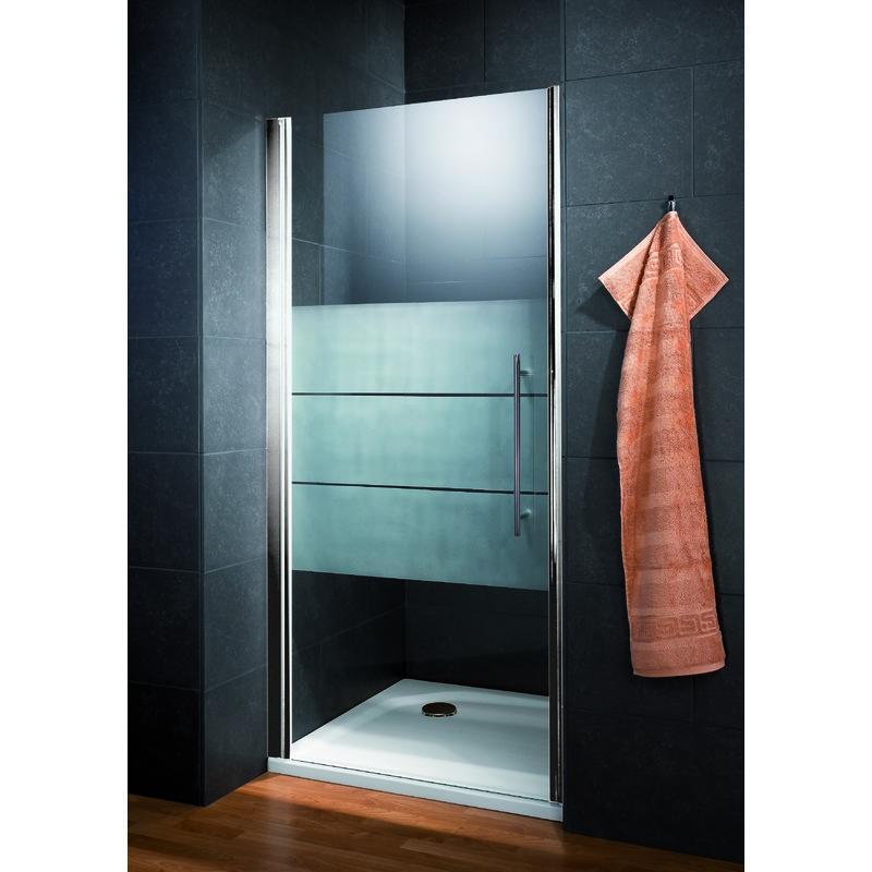 porte de douche pivotante style 90 x 190 cm verre d poli light anti calcaire profil s en. Black Bedroom Furniture Sets. Home Design Ideas