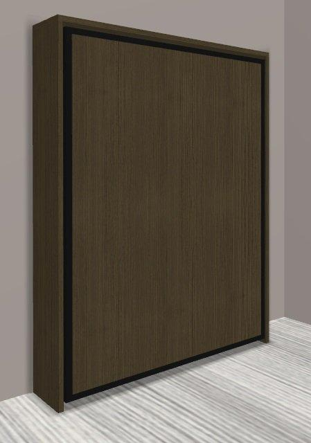 armoire lit escamotable cronos chene moka couchage 140 22 200 cm. Black Bedroom Furniture Sets. Home Design Ideas