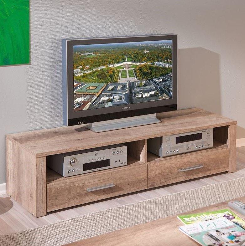 meuble tv absoluto 2 tiroirs et 2 niches en bois chene. Black Bedroom Furniture Sets. Home Design Ideas