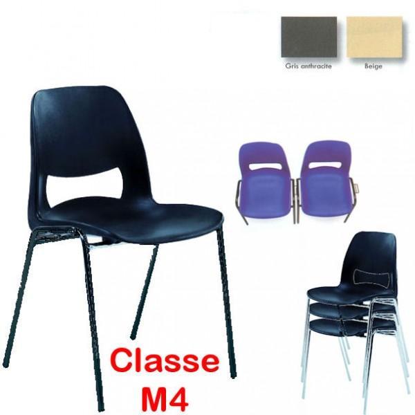 chaise coque design m4 accrochable pieds noirs. Black Bedroom Furniture Sets. Home Design Ideas