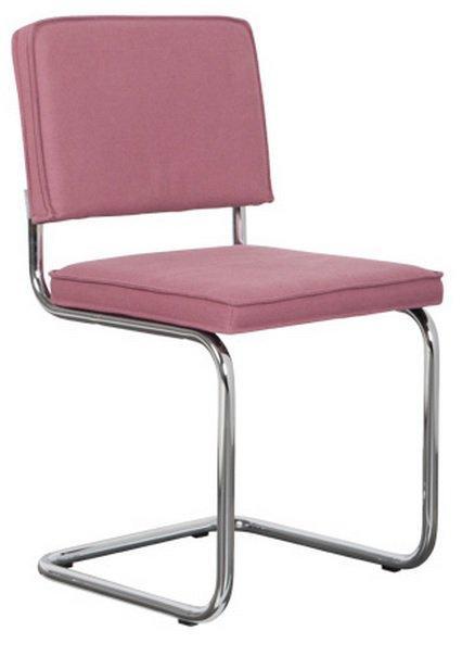 Chaise zuiver ridge vintage coloris rose.