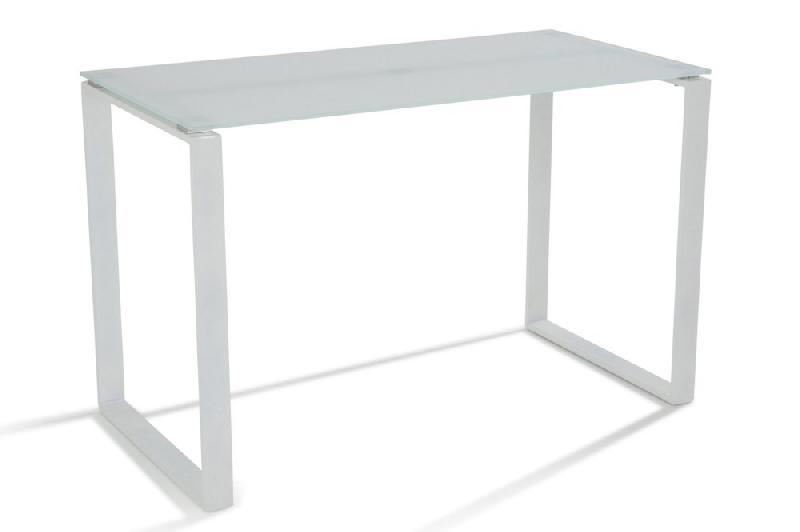 Bureau nasdrovia en verre trempe blanc cm