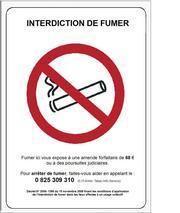 PANNEAU EN PVC INTERDICTION DE FUMER IF.VAC