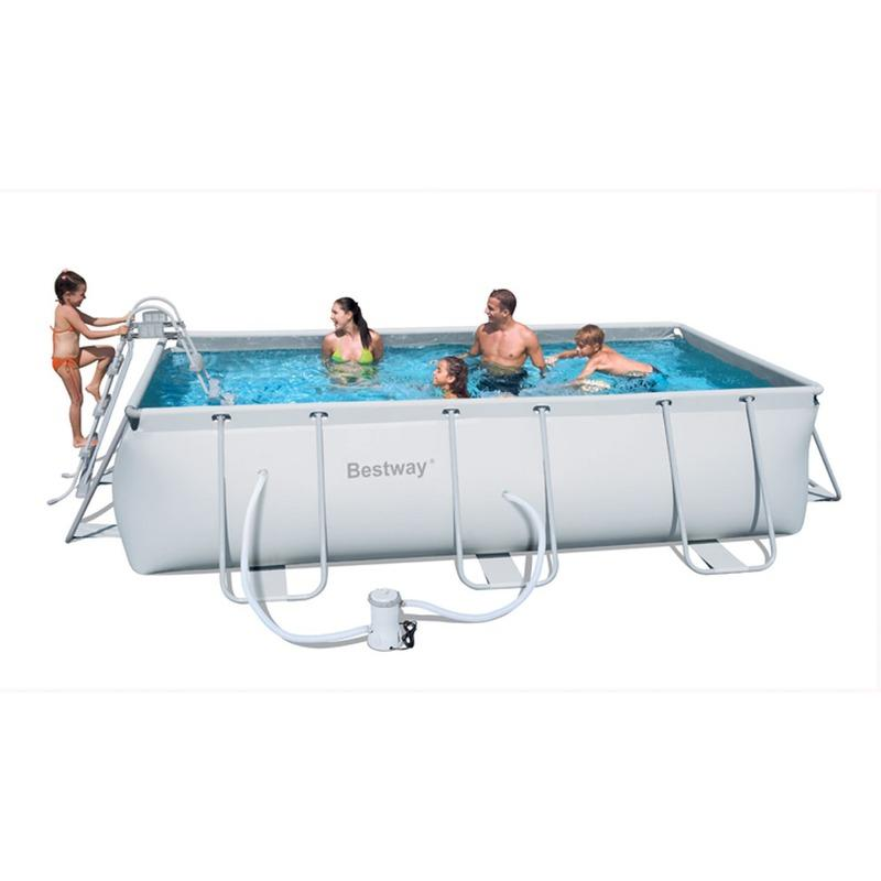 Kit piscine rectangulaire steel pro frame pools l404cm l for Pool innenfolie 350x90