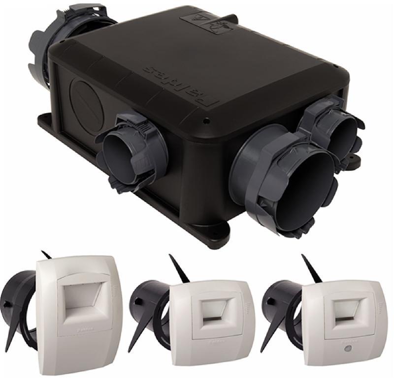 Vmc hygror glable simple flux bahia compact micro watt t3 hygrob le kit co - Vmc simple flux hygroreglable bahia ...