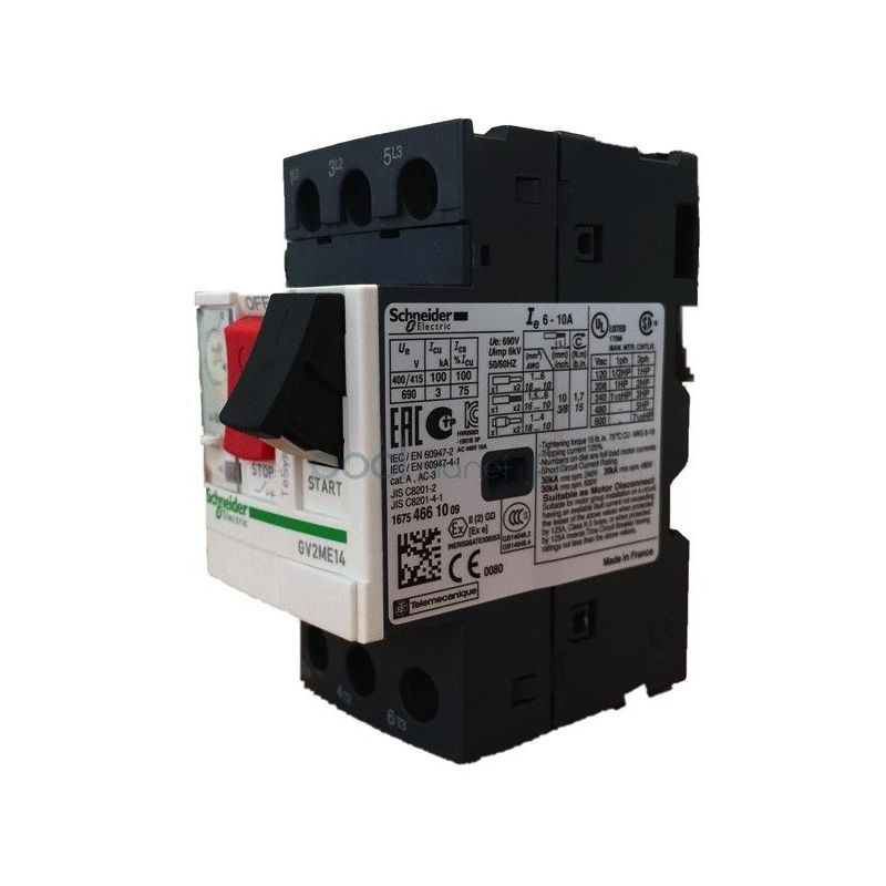 Disjoncteurs magn to thermique schneider gv2 1 6a 2 5a schneider electric merlin gerin - Disjoncteur magneto thermique ...