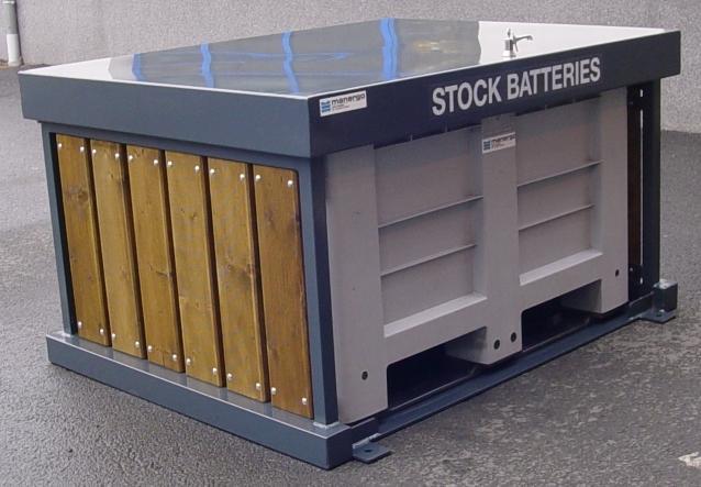 Collecteurs de piles et batteries tous les fournisseurs for Conteneur bois
