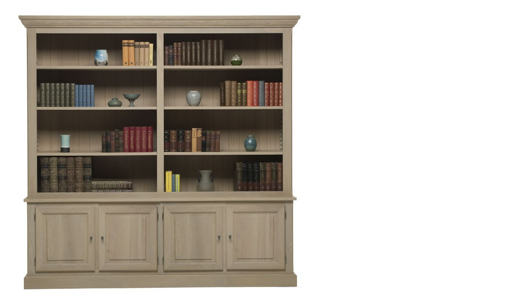 meuble biblioth que contemporaine en ch ne massif holmes. Black Bedroom Furniture Sets. Home Design Ideas