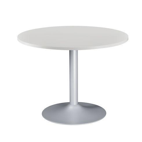 table ronde excellens plateau gris clair diam tre 100 cm pied colonne bruneau comparer les. Black Bedroom Furniture Sets. Home Design Ideas