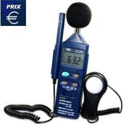 Analyseur de bruit multifonction environnemental 4 en 1 pce-em882