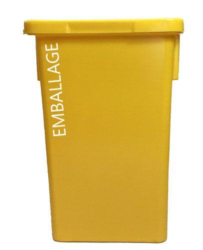 Bac de collecte des dechets trizen emballage 120 l