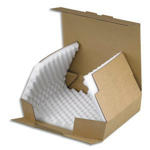 emballage boite postale en carton brun calage en mousse simple cannelure dim int l24 x h9. Black Bedroom Furniture Sets. Home Design Ideas