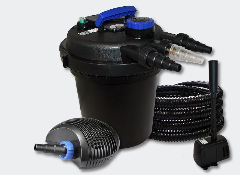 Kit filtration bassin pression 6000l 11 watts uvc 20 watts pompe tuyau fontaine 4216226