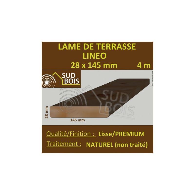 douglas naturel lisse 4m lame bois et caillebotis bois pour terrasse