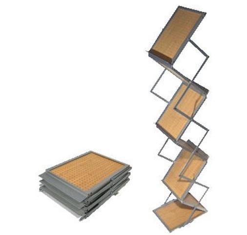 Présentoir de brochures pliable hop bois-pb07
