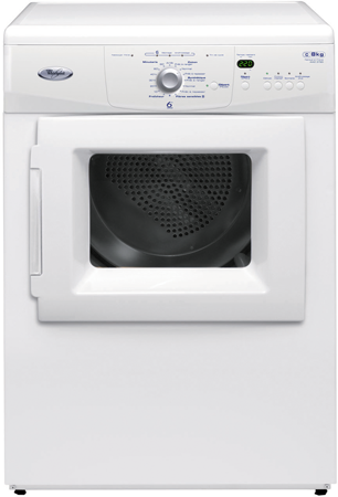 Sèche-linge whirlpool : posable, 8 kg - awz 3790