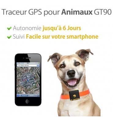 traceur gps avec collier pour chien gt90 autonomie 6 jours comparer les prix de traceur gps. Black Bedroom Furniture Sets. Home Design Ideas