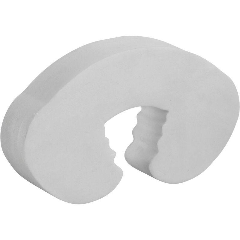 Amortisseur de porte anti pince doigt thirard blanc 2 Poignee de porte anti pince doigt