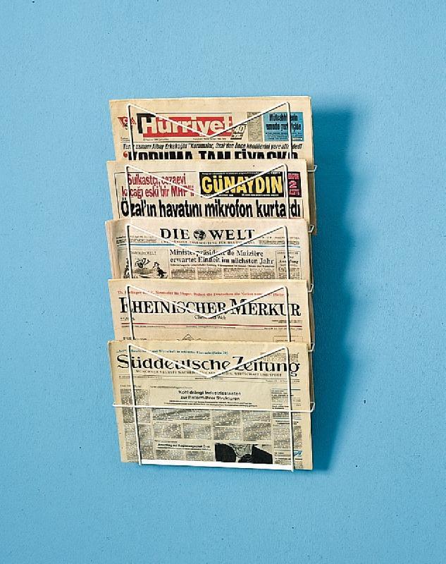 Présentoirs en fer journaux/périodiques 5 niveaux