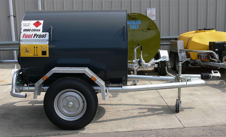 Remorque carburant citerne  fuelstore 1000l