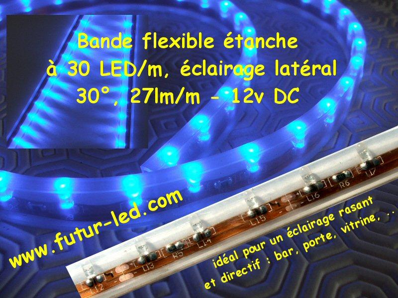 Rubans a led flexible, éclairage latéral