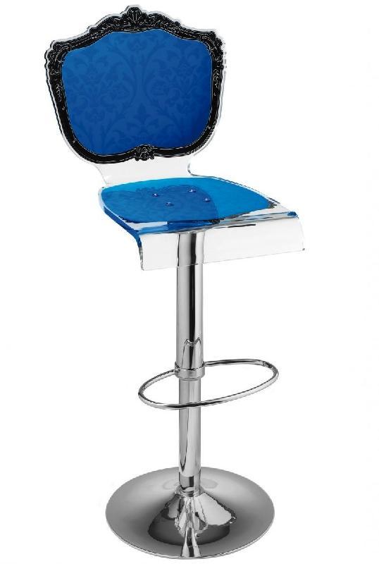 tabouret chaise de bar baroque bleu plexiglass acrila. Black Bedroom Furniture Sets. Home Design Ideas