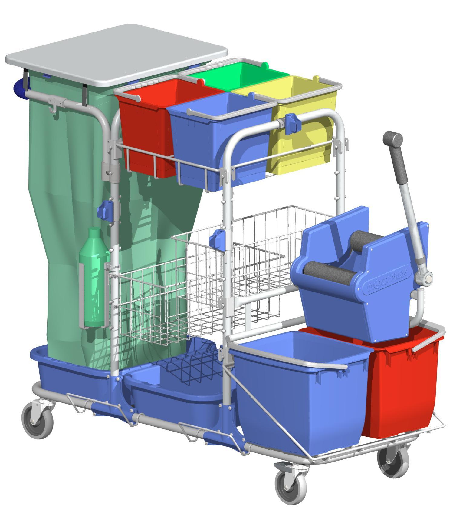 Chariot De Nettoyage Hospitalier Systeme Presse 600426