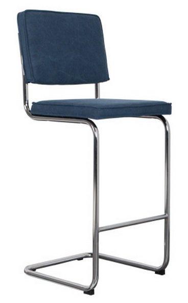chaise de bar zuiver ridge vintage coloris bleu. Black Bedroom Furniture Sets. Home Design Ideas