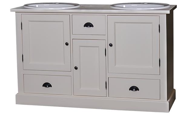 Meuble vasque royo meuble de salle bain 2 vasques plateau - Meuble salle de bain romantique ...