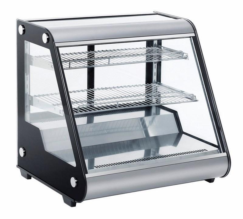 Présentoir réfrigéré de table avec 3 niveaux et verres coulissantes, l=697 mm - 8553