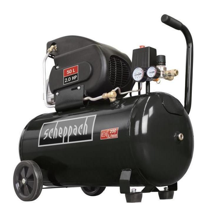 Compresseur d 39 air horizontal 50 l 2cv 10 bars hc55 - Compresseur black et decker 50l ...