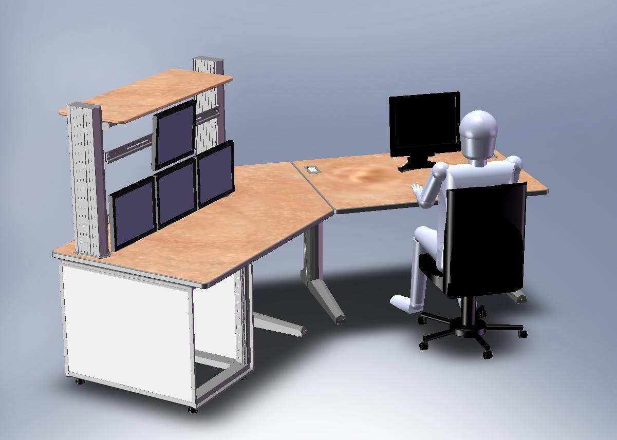 Poste informatique compacto meilleures images d for Bureau 4 postes de travail