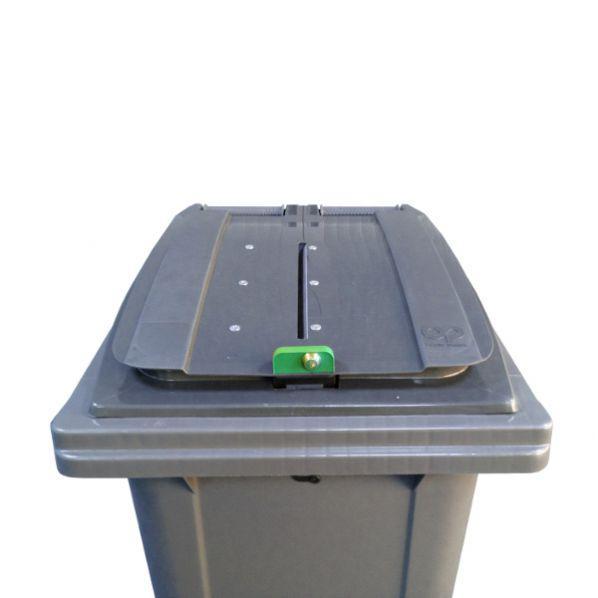 Conteneur poubelle pour papiers confidentiels - 140 litres gris anthracite