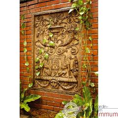 Decoration murale wall decor griffin motif rouille for Decoration murale exterieure