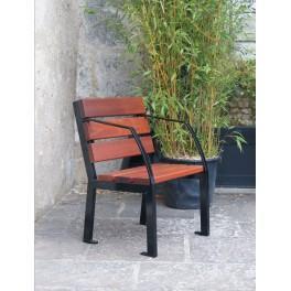 fauteuil silaos bois acajou avec accoudoir classique ref 8594107. Black Bedroom Furniture Sets. Home Design Ideas
